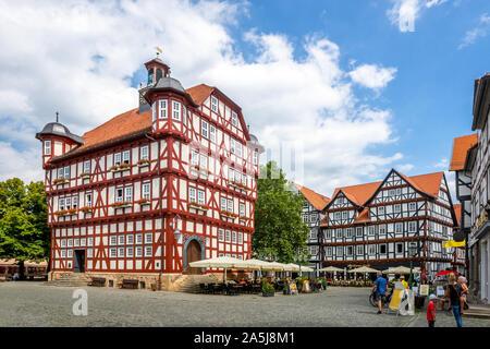 Rathaus der Stadt Melsungen, Hessen, Deutschland - Stockfoto
