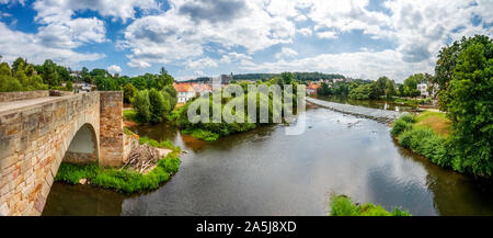 Bartenwetzerbrücke, Melsungen, Hessen, Deutschland - Stockfoto