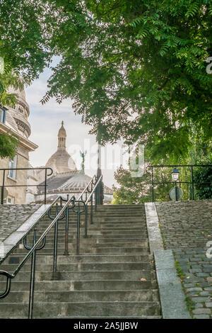 Treppen hinauf führenden Coeur Basilika Sacre, - Stockfoto