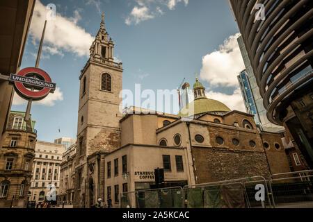 Die Kirche von St Stephen Walbrook, City of London, Großbritannien - Stockfoto