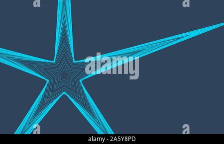 Abstrakt Blau Hintergrund mit Linien und Sterne. Vector Illustration EPS 10. - Stockfoto