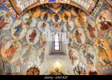 Fresken, Verklärung Kathedrale, Kloster St. Euthymius, Weltkulturerbe der UNESCO, Suzdal, Wladimir oblast, Russland, Europa - Stockfoto