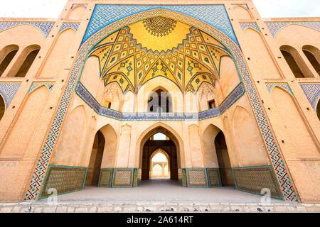 Agha Bozorg Moschee, Kashan, Isfahan Provinz, Islamische Republik Iran, Naher Osten - Stockfoto