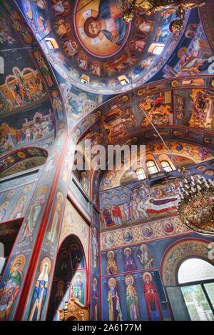 Fresken, St. Johns Forerunner's Parish, Athen, Griechenland, Europa - Stockfoto