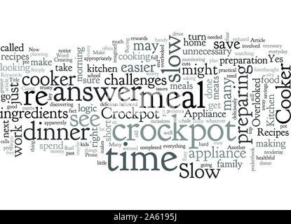Die Crockpot Slow Cooker ist die Übersehene Gerät in Ihrer Küche - Stockfoto