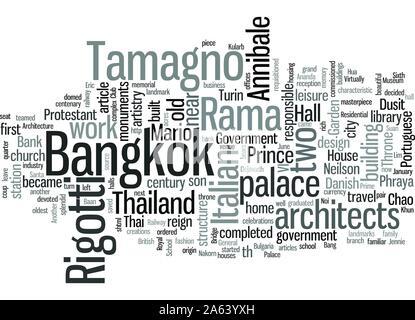 Die italienischen Architekten in Bangkok Denkmäler für ihre Kunstfertigkeit - Stockfoto