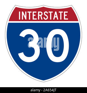 Interstate Highway 30 Schild - Stockfoto