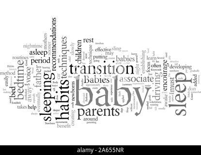 Schaffen gute Schlafgewohnheiten für Neugeborene - Stockfoto