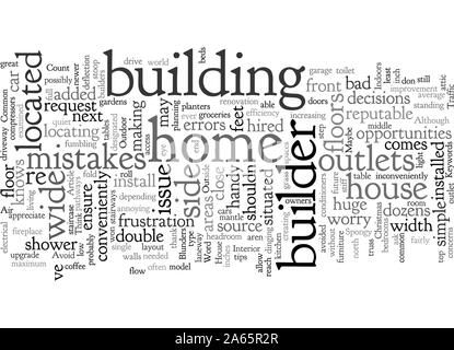 Gemeinsame Builder Fehler und wie Sie diese vermeiden können - Stockfoto