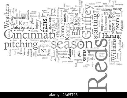Cincinnati Reds Vorschau - Stockfoto