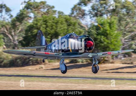 Ehemalige Royal Australian Air Force (RAAF) Commonwealth Aircraft Corporation CA-13 Boomerang Kampfflugzeuge VH-MHR. - Stockfoto