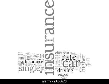 Billigste Auto Versicherung für einzelne Leute - Stockfoto