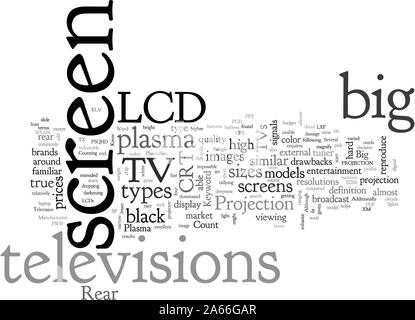 Großbild-Fernseher - Stockfoto