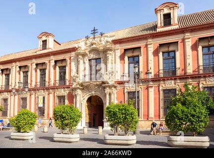 Sevilla Palast der Erzbischöfe Erzbistum Sevilla Plaza Virgen de los Reyes Santa Cruz Sevilla Sevilla Spanien Sevilla Andalusien Spanien EU Europa - Stockfoto