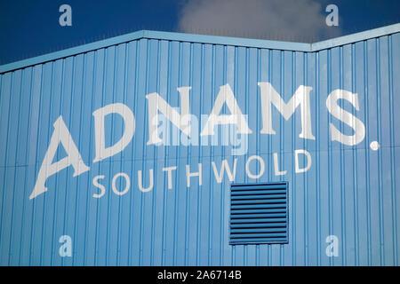 Zeichen für Adnams Brewery, Southwold, Suffolk - Stockfoto