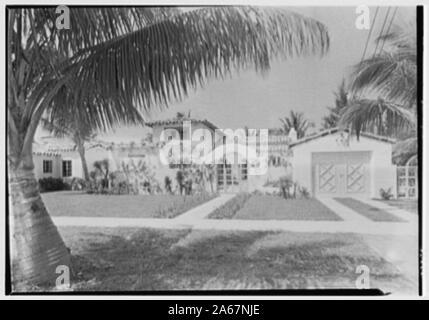 Wilkins, Residence at 5310 Alton Road, Miami Beach, Florida. - Stockfoto