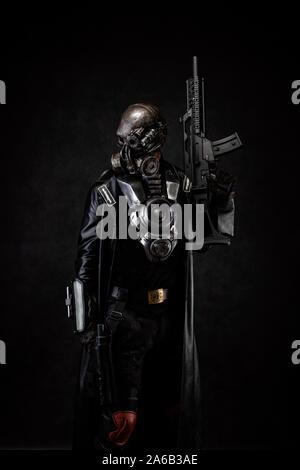 Post-apokalyptischen Cyborg Krieger - Stockfoto