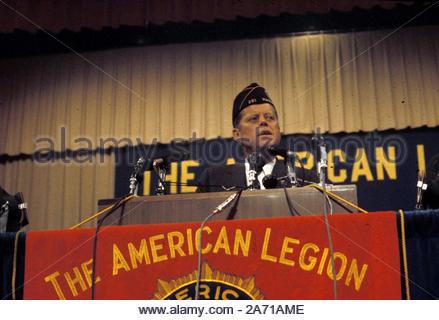 John F Kennedy eine Rede geben Kredit: 360043_Kugel Fotos/MediaPunch - Stockfoto