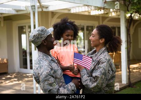 Soldat Paar und Tochter - Stockfoto