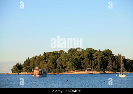 Kroatien, Istrien, Rovinj, St Catherine Insel, - Stockfoto
