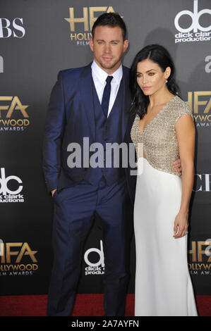 LOS ANGELES, Ca - 14. NOVEMBER 2014: Channing Tatum und Jenna Dewan-Tatum im Hollywood Film Awards 2014 im Hollywood Palladium. © 2014 Paul Smith/Featureflash - Stockfoto