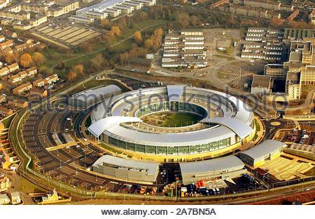 Foto vom 17/01/04 der neuen Regierung Communication Headquarter (GCHQ) im Westen von Cheltenham. - Stockfoto
