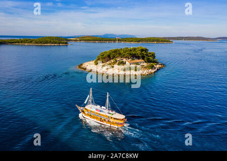 Stadt Hvar auf der Insel Hvar Kroatien - Stockfoto