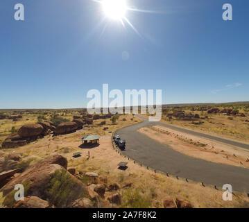 Devils Marbels Nationalpark, Outback, Northern Territory Australlia - Stockfoto