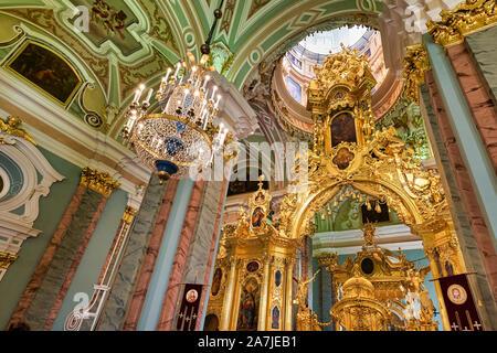 St. Petersburg, Russland. Peter und Paul Kathedrale am Peter und Paul Festung - Stockfoto