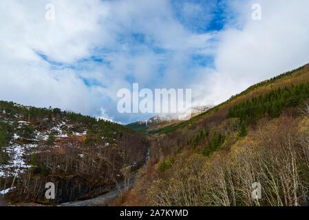 Natur Szenerien können Sie auf dem Weg von Trondheim nach Saebo, Norwegen treffen, während ein Frühling - Stockfoto