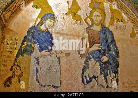 ISTANBUL TÜRKEI KIRCHE DES HEILIGEN ERLÖSERS IN CHORA byzantinischen Griechisch-orthodoxen Mosaiken, die mehrere VERANSTALTUNGEN IN DER BIBEL - Stockfoto