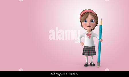 Süße kleine Mädchen gibt mehrere Posen mit und ohne Posten. Bildung, Finanzen, Technologie und konzeptionelle Bilder bereit für alle Ihre Social Media, - Stockfoto
