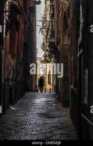 Zurück Straßen von Neapel - Stockfoto