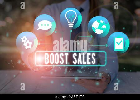 Text Zeichen zeigen den Absatz steigern. Business foto Präsentation bewegen Vertrieb profitieren von einem niedrigeren zu einem höheren Ort oder Position - Stockfoto