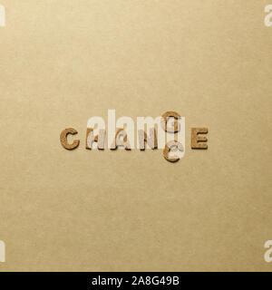 Wort ändern. Gelegenheit, Entwicklung Konzept - Stockfoto