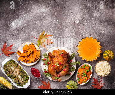 Thanksgiving Tag traditionellen festlichen Abendessen - Stockfoto