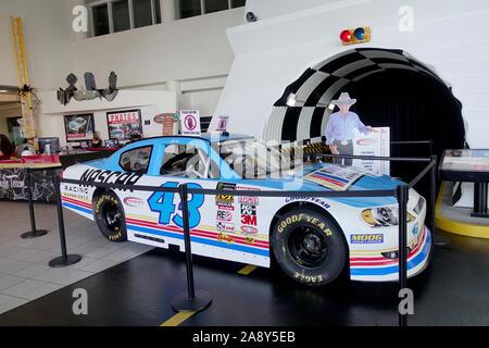 Richard Petty Driving Experience NASCAR Anzeige innerhalb des Daytona International Speedway Visitor Center Daytona Beach, Florida - Stockfoto