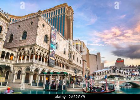 Die Venezianische Luxushotel und Casino Resort in Las Vegas, USA - Stockfoto