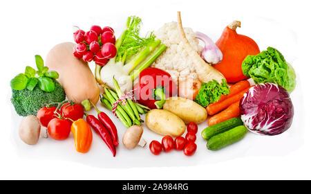 Gemüse auf weißen Hintergrund - Stockfoto