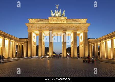 Brandenburger Tor, Berlin, Deutschland; Brandenburger Tor in Berlin. - Stockfoto