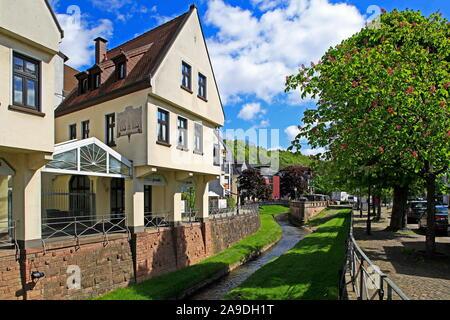 Die Seffersbach am Rindermarkt, Merzig, Saar, Saarland, Deutschland - Stockfoto