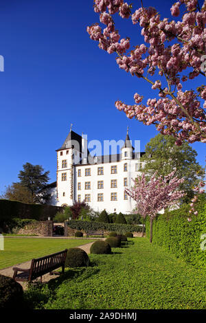 Schloss Berg in Perl-Nennig, Obermosel, Saarland, Deutschland - Stockfoto