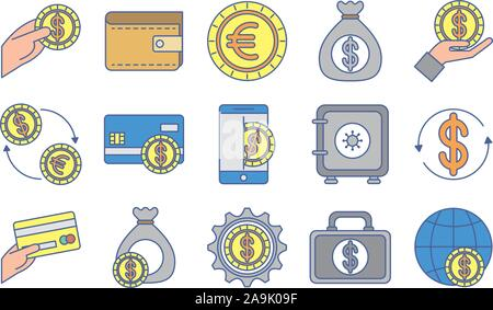 Bündel Geld Exchange Symbole - Stockfoto