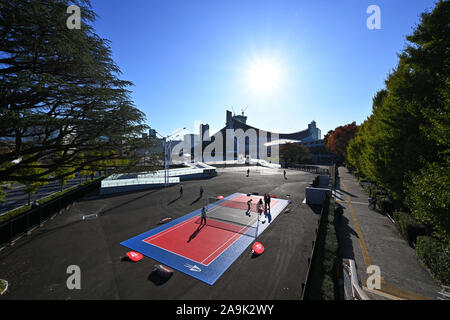 Tokio, Japan. 16 Nov, 2019. € Allgemeine Ansicht Badminton: HULIC - Daihatsu Japan Para-Badminton International 2019 Am 1. Yoyogi Gymnasium in Tokio, Japan. Credit: MATSUO. K/LBA SPORT/Alamy leben Nachrichten - Stockfoto