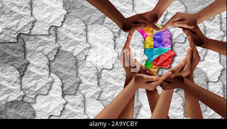 World Autism Bewußtsein Tag als psychische Gesundheit Konzept und autistischen sozialen entwicklungspolitischen Bildung Unordnung puzzle Kinder-Symbol als Kind etwas Besonderes. - Stockfoto