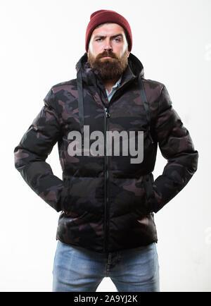 Weißem Warm Man Mit Stand Kapuze Tarnmuster Jacke Parka Auf 1JlKcTF3