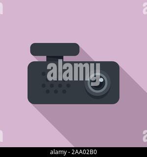 Auto dvr-recorder Symbol. Flache Abbildung: Auto dvr-recorder Vektor Symbol für Web Design - Stockfoto