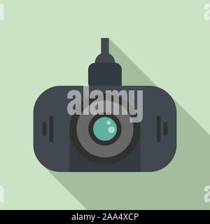 Led-Dvr Kamera Symbol. Flache Darstellung von LED-Dvr Kamera vektor Symbol für Web Design - Stockfoto