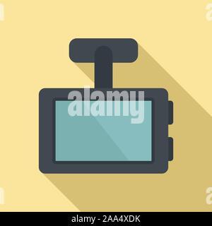 Fahrzeug dvr-Symbol. Flache Abbildung: Fahrzeug dvr Vektor Symbol für Web Design - Stockfoto