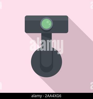 Digitales Auto recorder Symbol. Flache Darstellung von digitalen Auto recorder Vektor Symbol für Web Design - Stockfoto